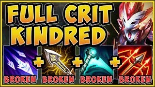 STOP PLAYING KINDRED WRONG! FULL CRIT KINDRED IS 100% ABSURD! KINDRED TOP GAMEPLAY League of Legends
