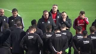 Beşiktaş sahaya çıktı. Antalya'dan özel görüntüler