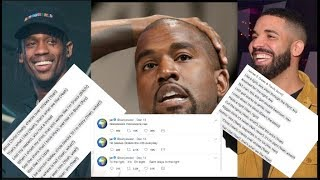 Kanye West Believes Every Line Of Travis Scott - Drake's Sicko Mode Is About Setting Him Up