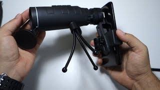 Review monocular + smartphone clip / phoneholder & tripod- 40x60 outdoor monocular