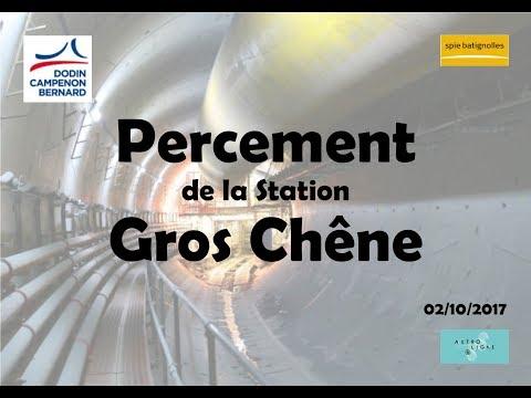 Percement Station Gros Chêne / Chantier du Métro de Rennes