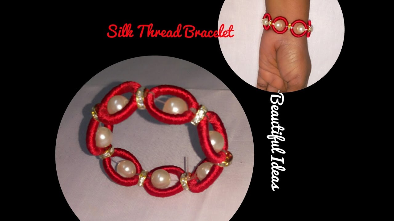 DIY//How to make Silk Thread Bracelet for kids at Home ..Tutorial ...
