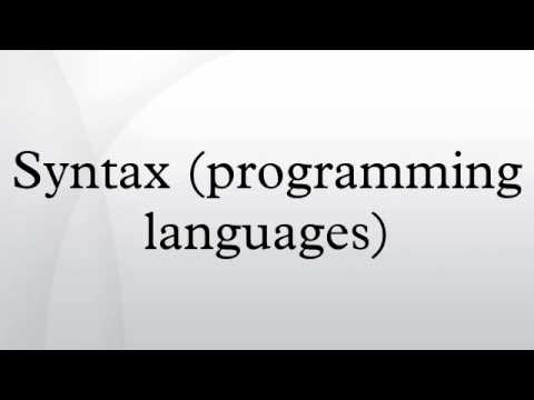 Syntax (programming languages)