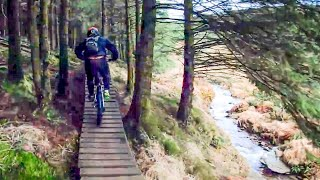 10 ebikes at Afan Forest, Wales