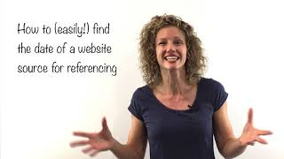 How to (easily!) fİnd the date of a website source for referencing