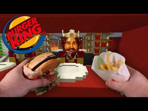 Realistic Minecraft VISITING BURGER KING IN REAL LIFE MINECRAFT!