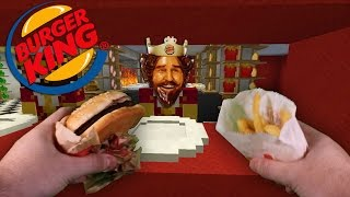 Realistic Minecraft -VISITING BURGER KING IN REAL LIFE MINECRAFT!