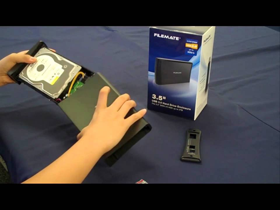 How To Install A 35 Hard Drive Into An Enclosure