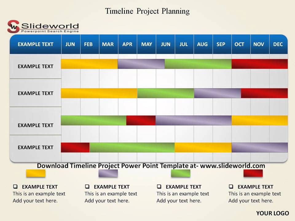 Timeline project powerpoint template youtube for Swimlane timeline template