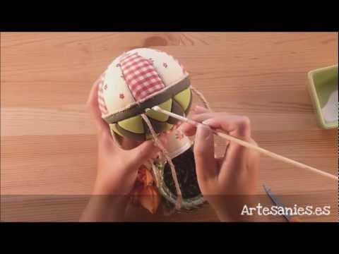 Globo aerost tico de patchwork sin aguja youtube - Como hacer pachwork ...