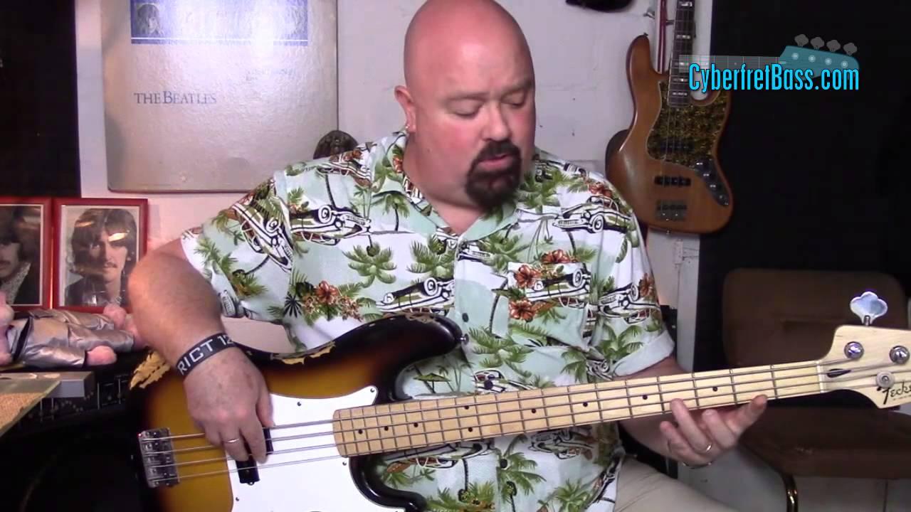 Basic Blues Bass Line in E | CyberfretBass com