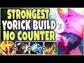 STRONGEST YORICK BUILD TO CARRY 🔥 NO COUNTER PICK 🔥 TOP Yorick vs Singed Season 9 League Of Legend