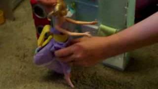 A teaching video...Barbie learns to use the potty for #2