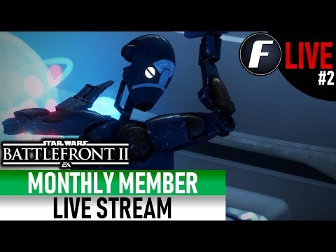 MONTHLY MEMBER LIVE STREAM #2 Star Wars Battlefront 2 thumbnail