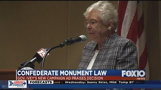 Gov. Ivey voices support for keeping Confederate monuments