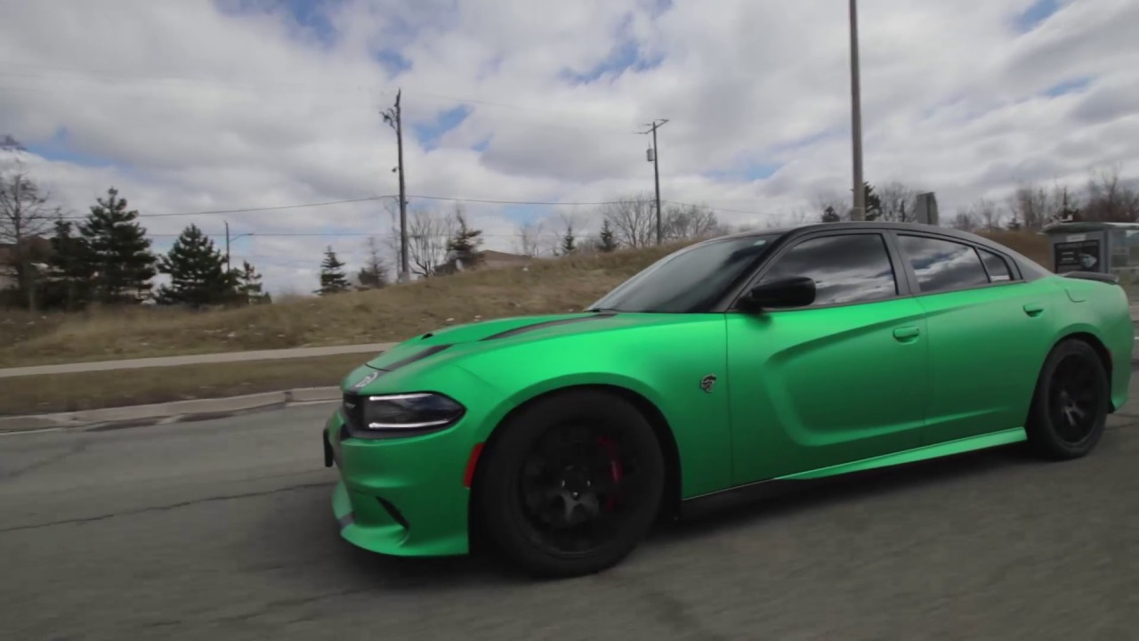 Hellcat Charger Wrapped >> Dodge Charger Hellcat WRAP!! - YouTube