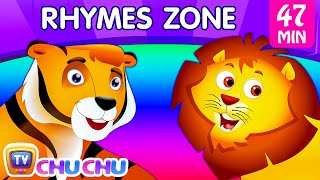 Repeat youtube video Finger Family Song | The Best Animal Nursery Rhymes Collection for Children | ChuChu TV Rhymes Zone