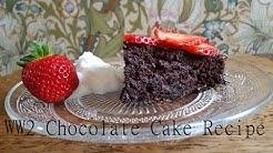 World War 2 Rationing Chocolate Cake - Vegan - Vintagious