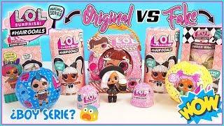 LOL surprise HairGoals. LOL Serie 5 ❤ LOL Surprise Original Vs Fake. LOL Serie Boy? 😜 LOL Makeover