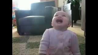 Spiteful laugh a little child-Злобный смех маленького ребёнка