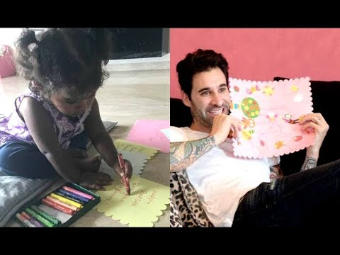 Sunny Leone Daughter Nisha Made Raksha Bandhan Card For Daddy Daniel Weber