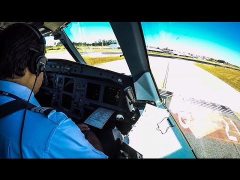 SUNNY Airbus A330-200 Cockpit Takeoff from Lisbon Airport