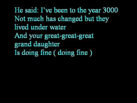 Year 3000  The Jonas Brothers  LYRICS