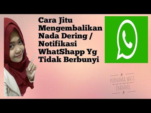 Cara Jitu Mengembalikan Nada Dering /Notifikasi WhatShapp Yg Tidak Berbunyi