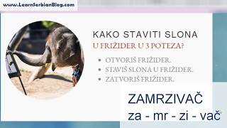 Serbian Lessons - Joke about Elephant and Fridge, Part 1