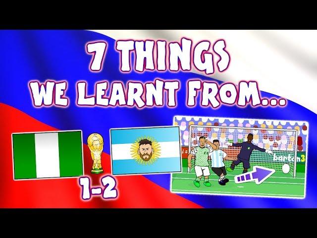 🏆Nigeria vs Argentina 1-2!🏆 (Messi and Rojo score World Cup Parody Goals Highlights)
