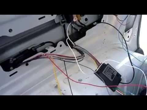 VW Caddy tow bar wiring bypass relay - YouTube