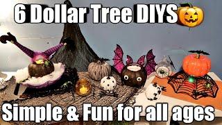 SIX *6*🎃Dollar Tree Halloween DIYS~Simple & Fun👻