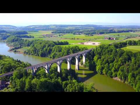 Швейцария с высоты #2. Швейцария, Фрибург. Switzerland, Fribourg. Dji Mavic Pro. 4K Video