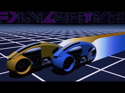 Tron (1982) Light Cycle Battle Music Video HD 1080p