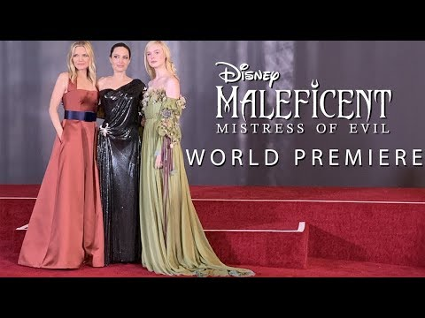 The World Premiere Of Maleficent Mistress Of Evil Youtube