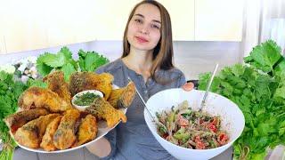 Вы пробовали РЫБУ С ЭТИМ СОУСОМ? Вкуснющий ужин! Грузинский салат и азиатский соус