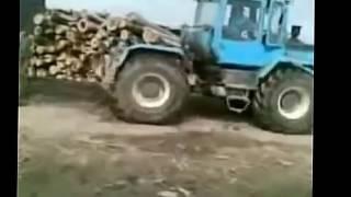 Трактора видео  Смотреть приколы про трактора  Ржака, очень смешно  720p