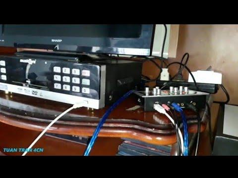 HD Kết nối KARAOKE DVD 6 Số + HF-5000 PRO với Loa Microlab cực hay | Tuan Tran 4CN