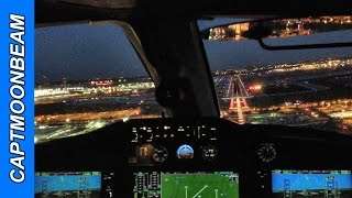 Landing Chicago O'Hare, Citation Mustang Cockpit View and Live ATC