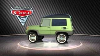 Disney Pixar CARS 2 - Miles Axlerod Turntable