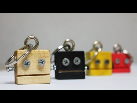 How to make a Keychain - Robot Keychain Making