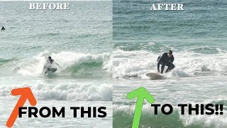 TRANSFORM YOUR POP UP Watch This Beginner Surfer Improve In ONE SESSION!