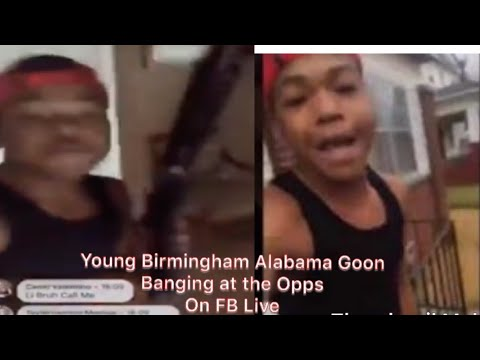 Young Birmingham Alabama Goon Bangs At His Opps While On FB Live.