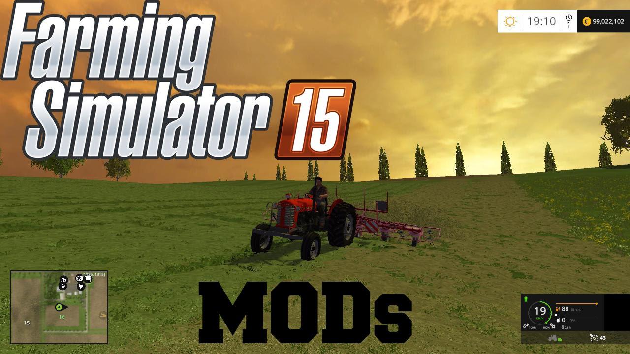 Farming Simulator 15 MODs - MF 65x Virando Grama