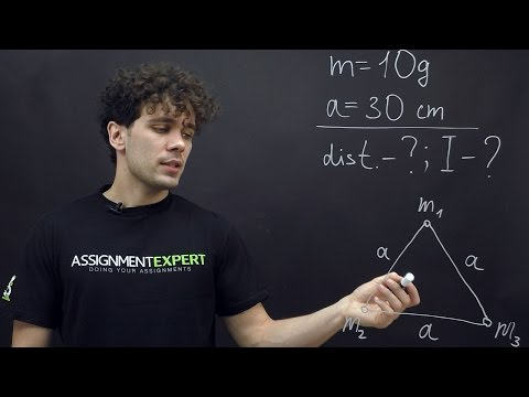 Moment of inertia of the  equilateral triangle system
