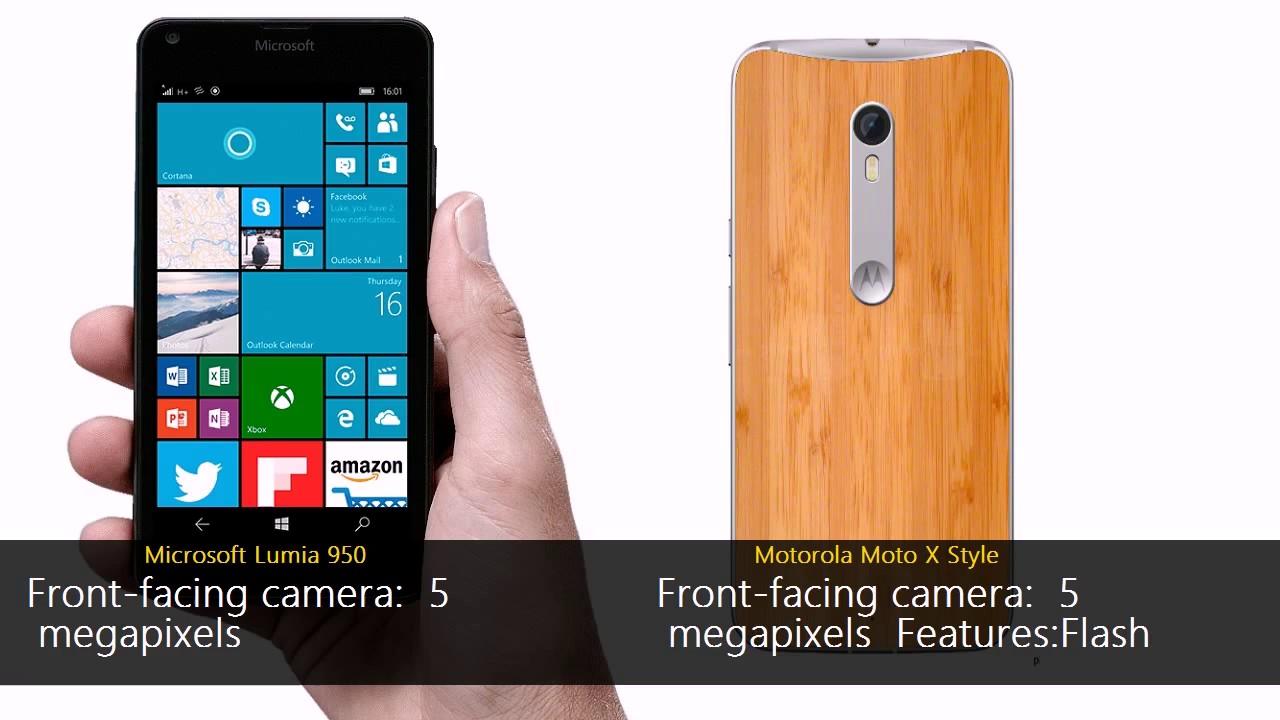 Microsoft Lumia 950 vs Motorola Moto X Style
