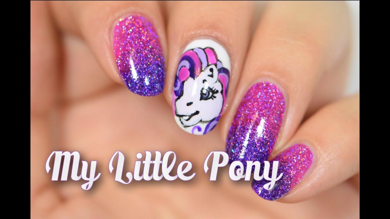 little pony mani nail art