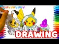 How to Draw Pokemon, Halloween Pikachu | Drawing Coloring Pages Videos for Kids