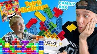 ТЕТРИС ЧЕЛЛЕНДЖ в Реальной жизни СТРОИМ КУБИКИ как в игре Tetris Кто выиграет в этой Битве