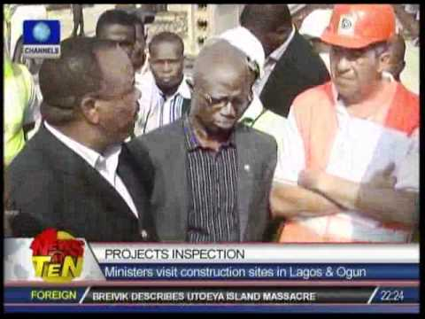 Projects Inspection:Ministers visit construction sites in Lagos & Ogun